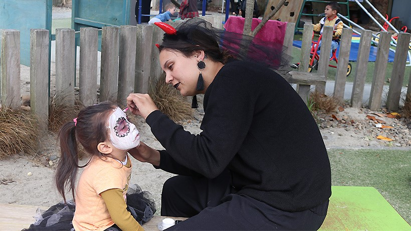 Children at St Johns Pascals childcare celebrate Halloween